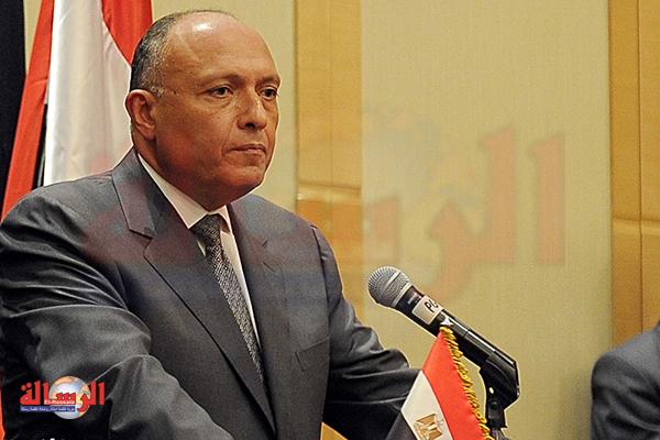 سامح شكري: ملف سد النهضة الإثيوبي قضية وجودية تؤثر على حياة ملايين المصريين