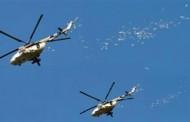 طائرات القوات الجوية العراقية تلقى منشورات على مدينة الموصل بنينوي فى العراق