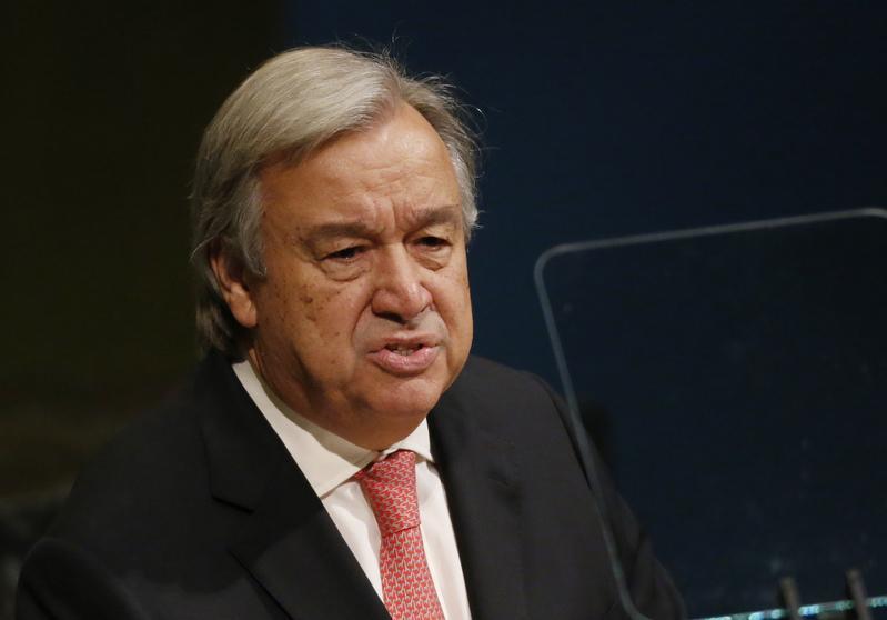 جوتيريش: الأمم المتحدة ملتزمة بالقرارات الدولية بشأن القضية الفلسطينية