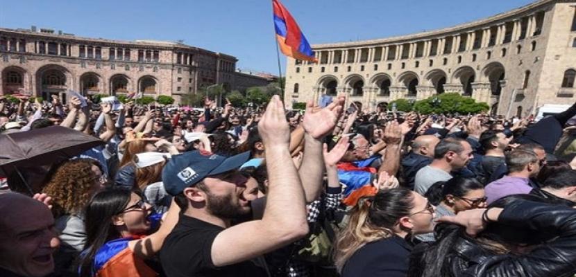 بدء العصيان المدني في أرمينيا بإغلاق الطرق المؤدية للعاصمة