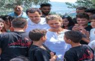 الأسد يزور مخيم أبناء النصر في ريف حماة بوسط سوريا