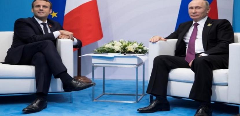 الكرملين: بوتين وماكرون ناقشا الوضع في سوريا عبر الهاتف