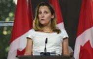 وزيرة خارجية كندا تأمل لقاء نظيرها السعودي لبحث الخلاف الدبلوماسي