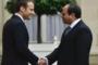 الرئيس السيسي يبحث مع نظيره الفرنسي عددا من الملفات ذات الاهتمام المشترك