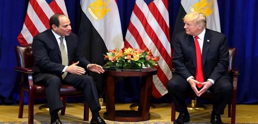 الرئيسان السيسي وترامب يشيدان بقمتهما علي هامش اجتماعات الجمعية العامة للأمم المتحدة