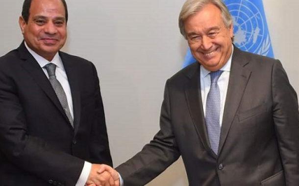 الرئيس السيسي يلتقي سكرتير عام الأمم المتحدة في نيويورك