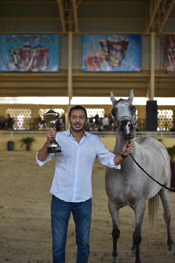 مصطفى شعبان يحصد الجائزة الفضية في بطولة الخيول