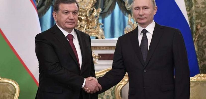 الرئيس الروسي ونظيره الأوزبكين يطلقان عملية بناء أول محطة نووية بأوزبكستان