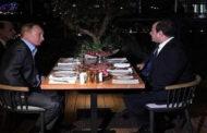 الرئيس السيسى يعرب عن سعادته البالغه بلقاء فلاديمير بوتين