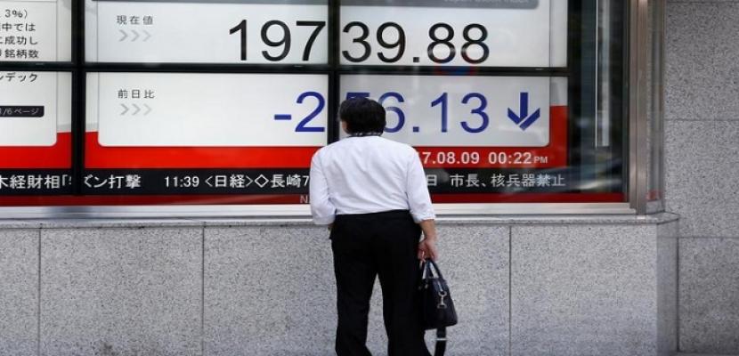 المؤشر نيكي الياباني يهبط إلى أدنى مستوى في أسبوعين