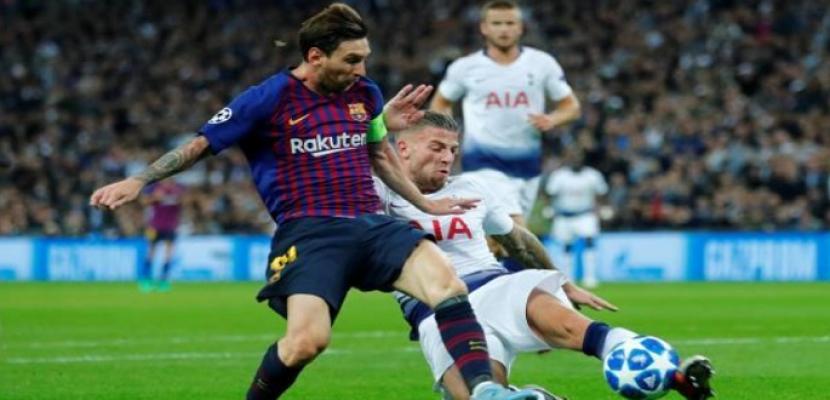 برشلونة يهزم توتنهام 4-2 بدوري الأبطال