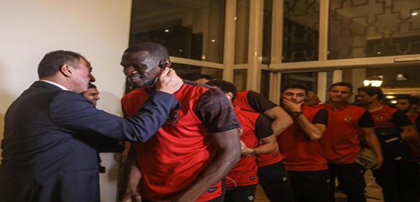 بعثة النادي الأهلي تعود إلى القاهرة قادمة من تونس