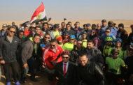 وزير الرياضة يقود ماراثون الدراجات للشباب العربي فى سفح الأهرامات