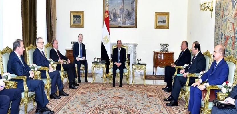 الرئيس السيسي يبحث مع سكرتير مجلس الأمن الروسي التعاون الأمني وآليات مكافحة الإرهاب