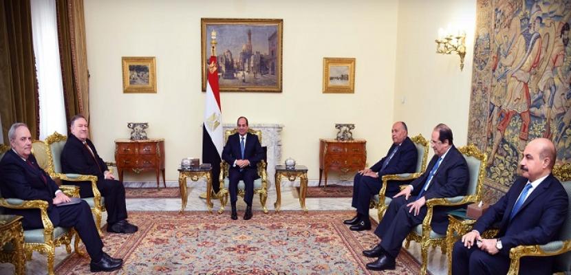 السيسي يؤكد حرص مصر على تعزيز التعاون الثنائي والشراكة الاستراتيجية مع الولايات المتحدة