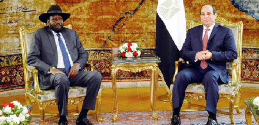 قمة بين السيسي وسلفا كير الخميس بقصر الاتحادية