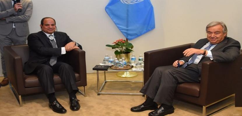 بسام راضى : الرئيس السيسي يلتقى اليوم الامين العام للامم المتحدة ورئيس الكونغو الديمقراطية