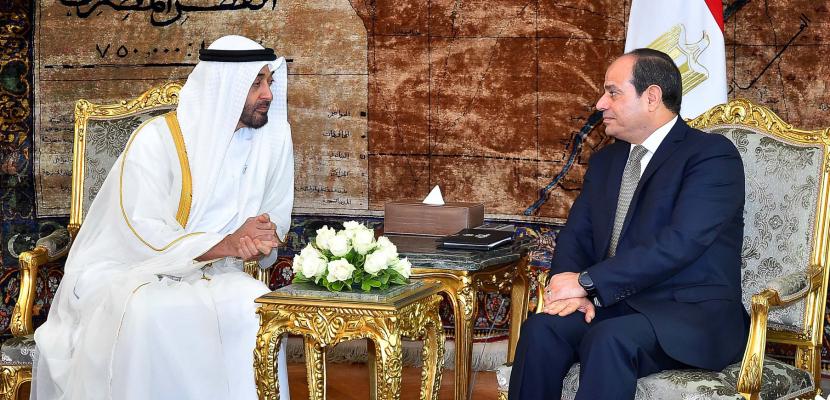 الرئيس السيسي يستقبل اليوم ولى عهد أبو ظبى ببرج العرب بالأسكندرية