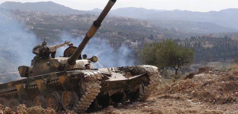 الجيش السوري يقضي على مجموعات إرهابية بريف حماة