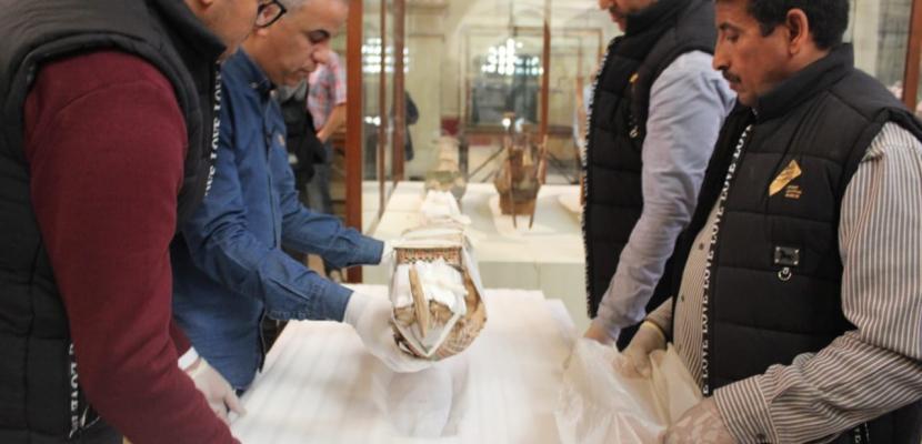 المتحف الكبير يستقبل١٥٣ قطعة أثرية من المتحف المصري ومركب خوفو الثانية بالهرم