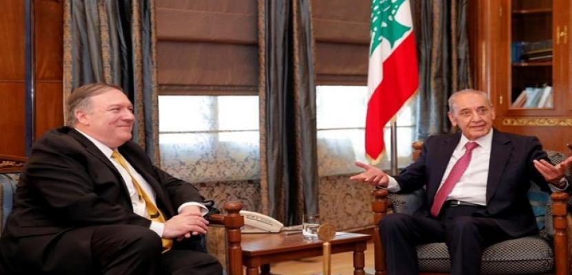 بري لوزير الخارجية الأمريكي: العقوبات على حزب الله تضر لبنان