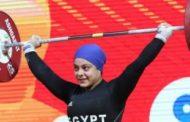سارة سمير تفوز بجائزة أفضل رباعة ببطولة أفريقيا لرفع الأثقال