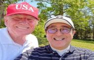 ترامب وآبي يلعبان الجولف ويشاهدان مباريات للسومو