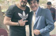 ظهور نادر للعازف الشهير طليق الفنانة نهال عنبر مع نجله الممثل الشاب