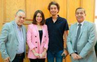 هبة مجدي تحتفل بحصولها على الماجستير بحضور زوجها