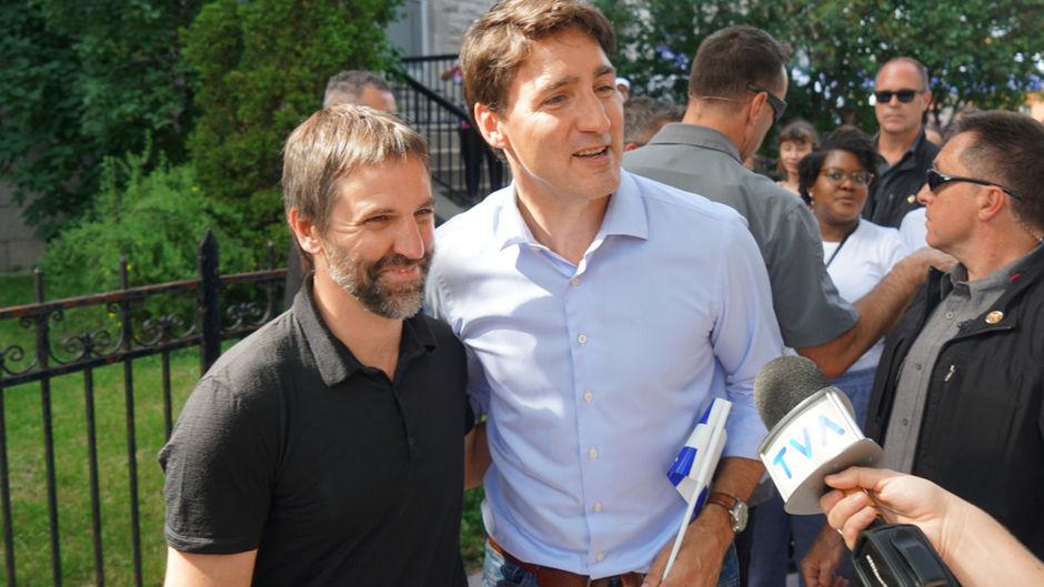 Justin Trudeau assiste à l'investiture de Steven Guilbeault