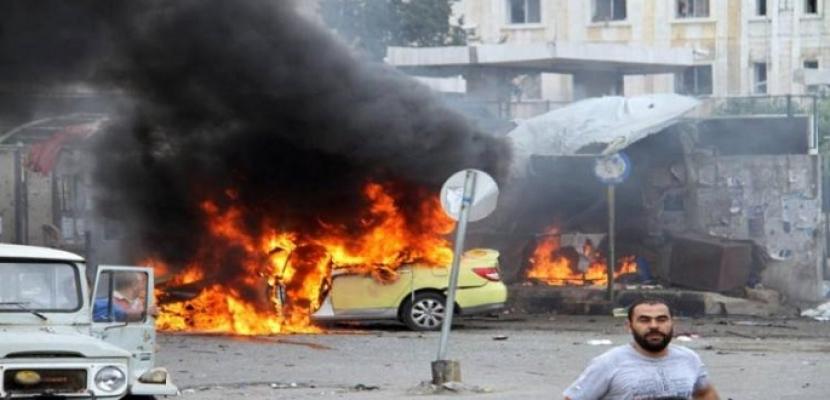 11 قتلى في انفجار سيارة مفخخة بعفرين السورية