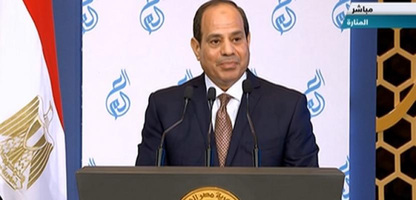 السيسي: مصر الجديدة تولي أهمية قصوى لبناء الإنسان صحيا وعلميا وثقافيا