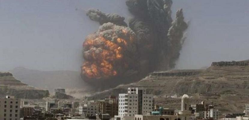 طيران التحالف يستهدف مواقع استراتيجية للحوثيين في صنعاء