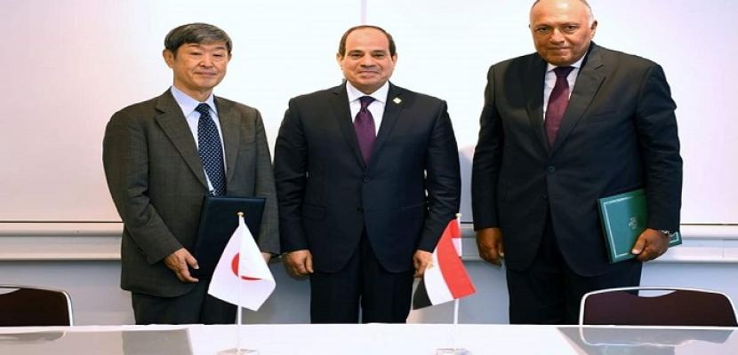 الرئيس السيسى يشهد التوقيع على مذكرة تعاون مع وكالة جايكا