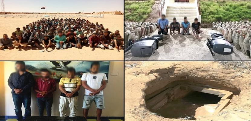 قوات حرس الحدود تضبط 18 قنبلة معدة للتفجير وتدمر فتحتي نفق على الشريط الحدودي بشمال سيناء
