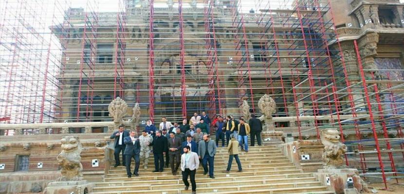 الآثار: الانتهاء من 85% من أعمال ترميم قصر البارون أمبان بحي مصر الجديدة