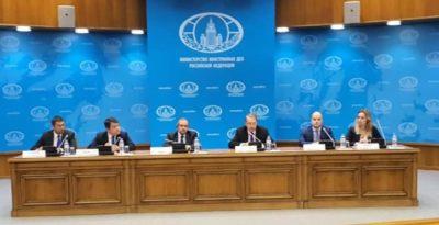 """السفير المصري في موسكو ونائب وزير الخارجية الروسي يترأسان جلسة إحاطة لعرض آخر ترتيبات انعقاد قمة """"روسيا-أفريقيا"""""""