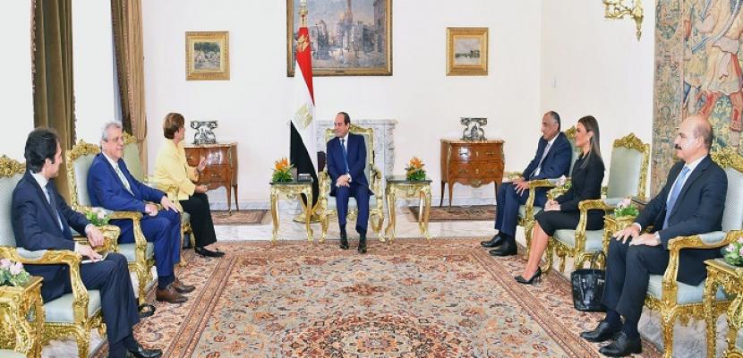 خلال لقائه رئيسة البنك الدولي.. الرئيس السيسي يؤكد اهتمامه بالتشاور المستمر مع قيادات مؤسسات التمويل الدولية
