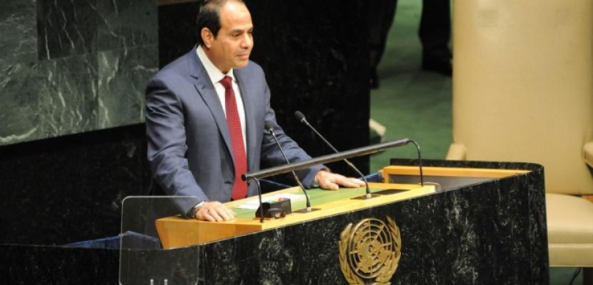 """الرئيس السيسي يشارك في أعمال """"قمة التنمية المستدامة"""" بمقر الأمم المتحدة"""