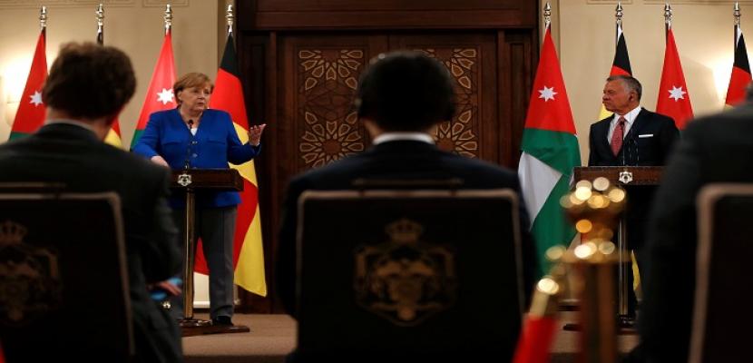 خلال لقائها بالعاهل الأردني.. ميركل تنتقد خطة نتنياهو لضم غور الأردن