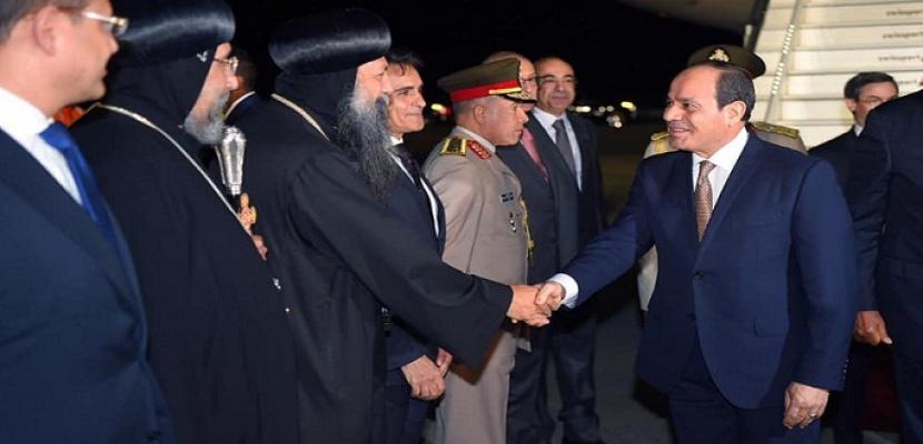 وصول الرئيس السيسى إلى نيويورك لحضور اجتماعات الجمعية العامة للأمم المتحدة