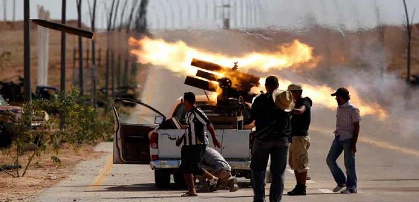 مقتل 15 مسلحاً من قوات الوفاق فى مواجهات مع الجيش الليبى جنوب طرابلس