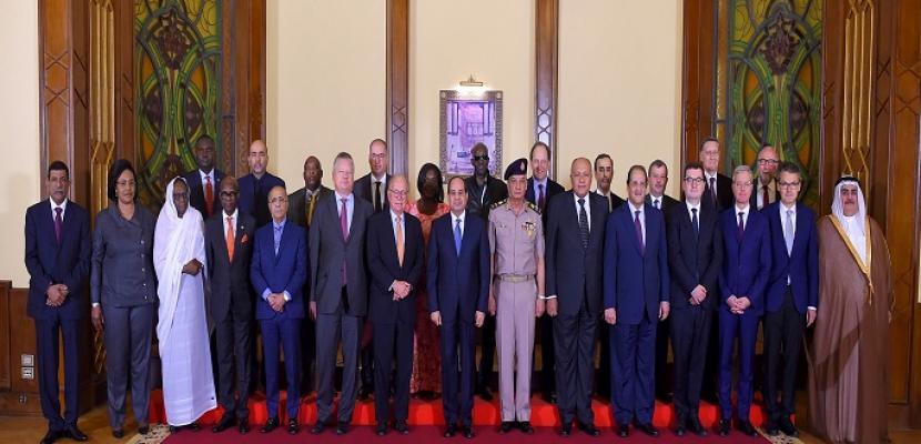 الرئيس السيسي يؤكد أهمية تعزيز التكاتف الدولي لمواجهة المخاطر الأمنية وإيجاد حلول جذرية لعدم الاستقرار