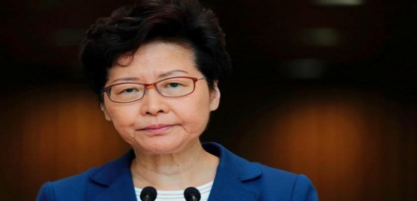 الرئيسة التنفيذية لهونج كونج تبدي استعدادها لإجراء تعديل حكومي عند انتهاء أزمة الاحتجاجات