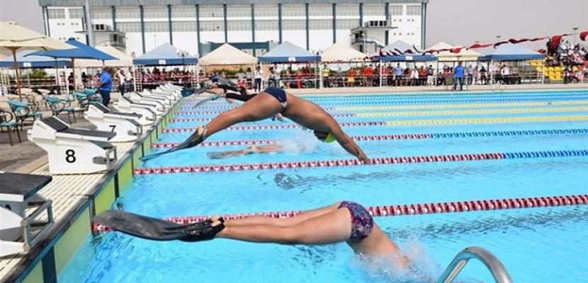 بطولة كأس مصر للسباحة بالزعانف تواصل منافساتها في سموحة