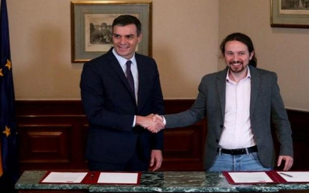 الاشتراكيون وحزب بوديموس يوقعون اتفاقا لتشكيل حكومة إسبانية