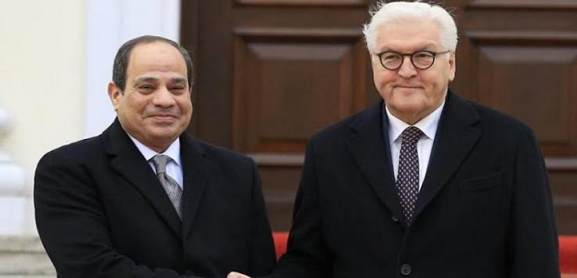 مباحثات قمة ثنائية بين الرئيس السيسي ونظيره الألماني في برلين