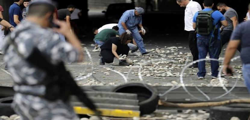 إصابة عسكريين لبنانيين إثر مواجهات بالحجارة مع معتصمين