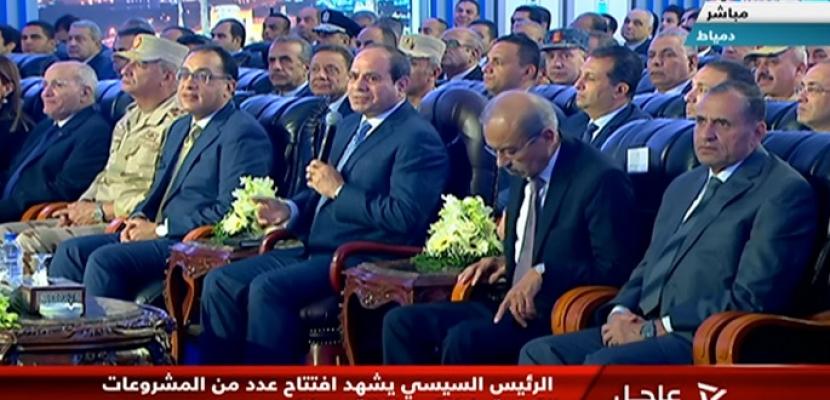 الرئيس السيسى : 615 مليار جنيه تكلفة مضاعفة حجم إنتاج الكهرباء بمصر خلال الـ 5 سنوات الماضية