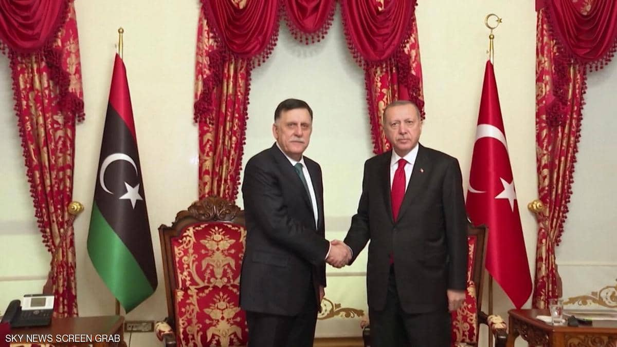 السراج يلتقي أردوغان في إسطنبول عقب وقف إطلاق النار في ليبيا